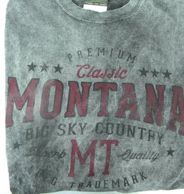 "Men's Starsky Oval ""Montana Big Sky Country"" Charcoal- XLarge"