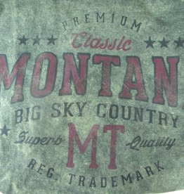 "Men's Starsky Oval ""Montana Big Sky Country"" Olive-XLarge"