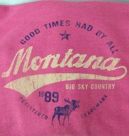 """Unisex Heathered Hoody """"Montana Big Sky Country"""" Heather- 2XLarge"""