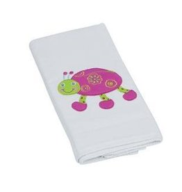 Leah the Ladybug Single Appliqued Burp Cloth