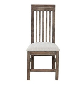 Wood Dining Chair - Upholestered Seat