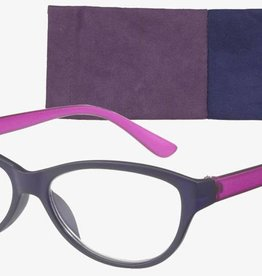 Lifted Oval Eco Frosted Navy/Plum +2.25