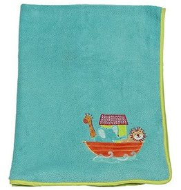 Noah's Ark Plush Blanket 29x40