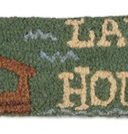 """Lake House  8""""x24"""" Hooked Pillow"""