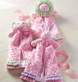 Baby Girl Princess Cuddler Blanket- Elephant