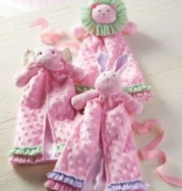 Baby Girl Princess Cuddler Blanket- Pink Bear