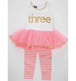"""Toddler Girl """"IM 3"""" Tunic & Legging Set 3 Years"""