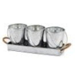 Metal Condiment Tray Set