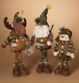 """18""""H Plush Holiday Camouflage Figurine, 3 Assorted"""