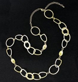 Textured Ring Chain Necklace