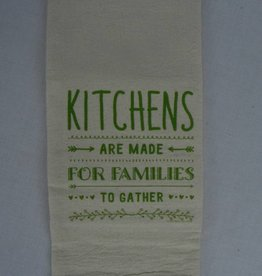 Postcard Towel Tea Towel/7028 Kitchens are made for families to gather