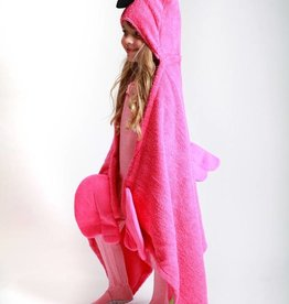 Franny the Flamingo Hooded Towel