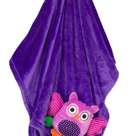 Baby Buddy Blanket Owl/Purple