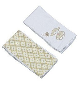 Lillie the Lamb Double Burp Cloth Gift Set