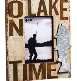 Wooden 4x6 Picture Frame, On Lake Time