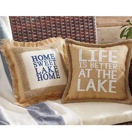 """Lake Pillow- """"Home Sweet Lake Home"""""""