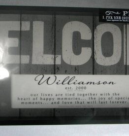 Large Weathered Personalized WELCOME Sign