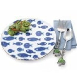 Blue Fish Round Platter