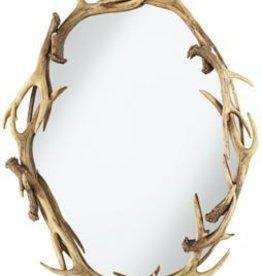 Caribou Oval Antler Mirror