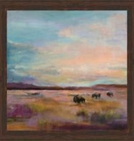 Buffalo Under the Big Sky Canvas 35x35