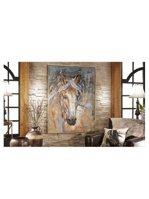 Canvas and wood horse wall print - Beckman\'s