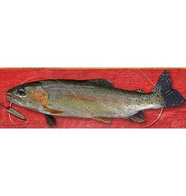 Rainbow Trout On Red Background (Medium)