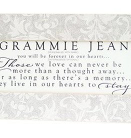 Linescape Gray Grunge Damask Personalized Frame