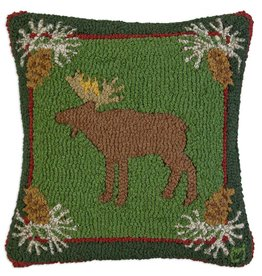 "FOREST MOOSE 18""X18"" HKD PILLOW"