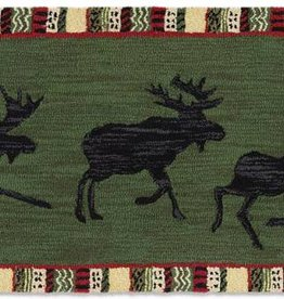 "ARGYLE GREEN MOOSE 30""X8' HKD RUNNER"