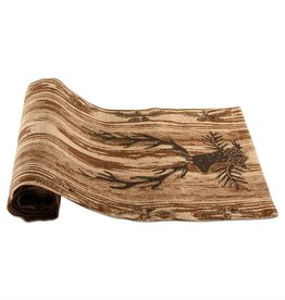 Wood Grain Stag Runner