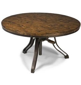 Wood Round Cocktail Table