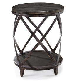 Wood Round Accent Table