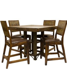 "42"" Square Urban Rustic Dining Table"