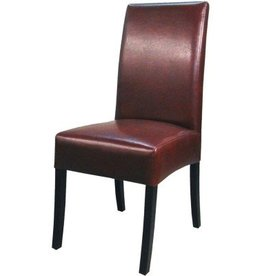 Valencia Bonded Leather Chair, Dark Brown