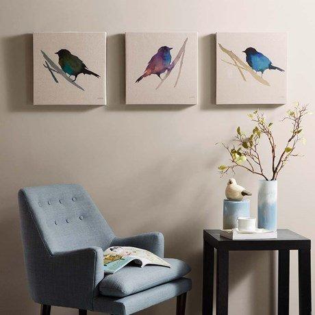 bird 3 piece canvases beckman s