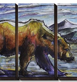 3 Aluminum Panel Grizzly Bear 63x42 ED Anderson