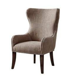 Hancock Button Tufted Back Accent Chair - Camel