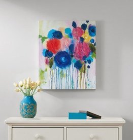 Hearts and Flowers Hand Embellished Canvas