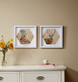 Lost in the Woods Framed Gel Coated Paper 2 Piece Set