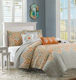 Nisha 6 Piece Quilted Coverlet Set