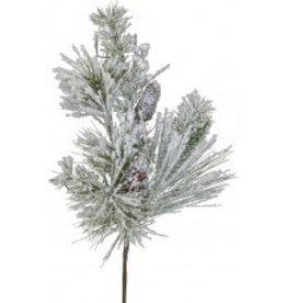 Snow Pine Needle/ Pine Cone Branch