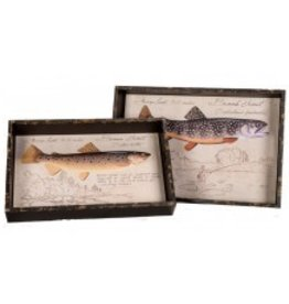 Brook Trout Wooden Tray