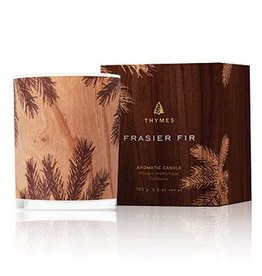 Frasier Fir Candle - Wood Design