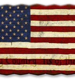 USA Corrugated Flag 18x28