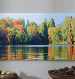 Canvas Autumn Lake Print