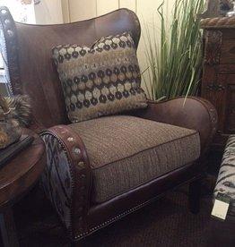 Marlin Fabric/Leather Chair