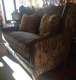 Athens Settee Leather/Fabric