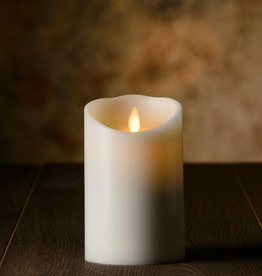 "5""H Oblique Edge LED Candle Vanilla"