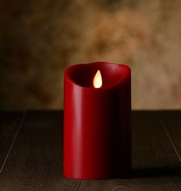 "5""H Oblique Edge LED Candle Cinnamon"