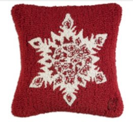 """Star Flake 14"""" Hooked Pillow"""